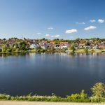 Kolding city view from kolding Castle