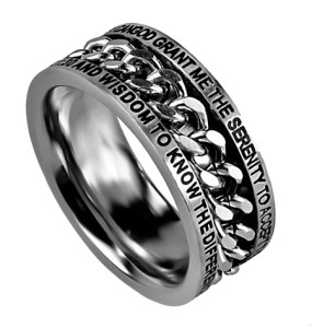Serenity Prayer Chain Spinner Ring