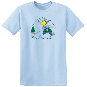 Enjoy The Journey Light Blue Tee Shirt
