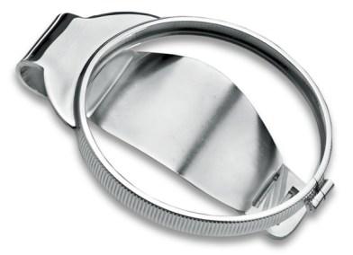 Silver Medallion Holder Moneyclip
