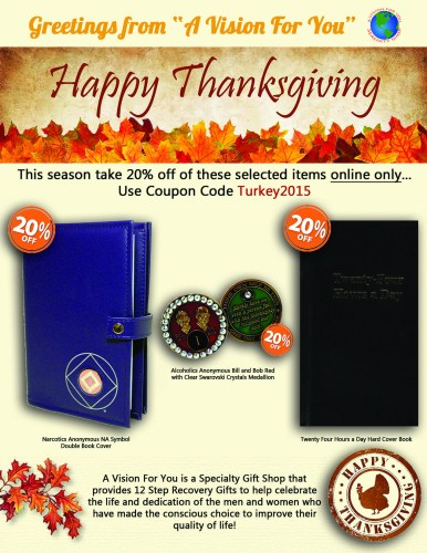 Take 20% Off this 2015 Thanksgiving at A Vision For You