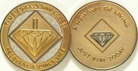 NEW Narcotics Anonymous Gold and Silver Plated Medallion