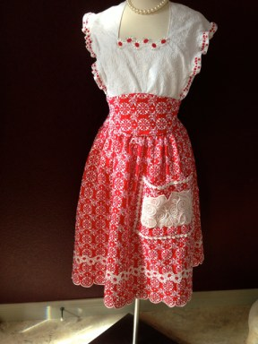 red eyelet front