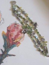 Peridot in bloom glistening green bracelet