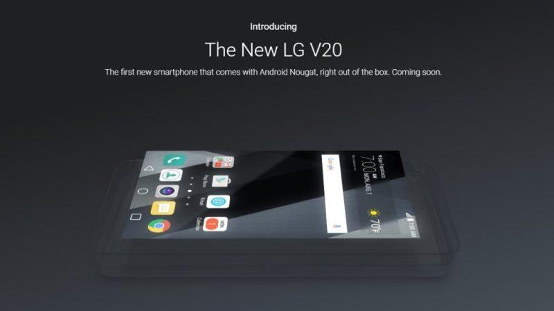 Android 7.0 Nougat LG V20