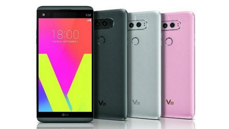 LG V20 Coloris press