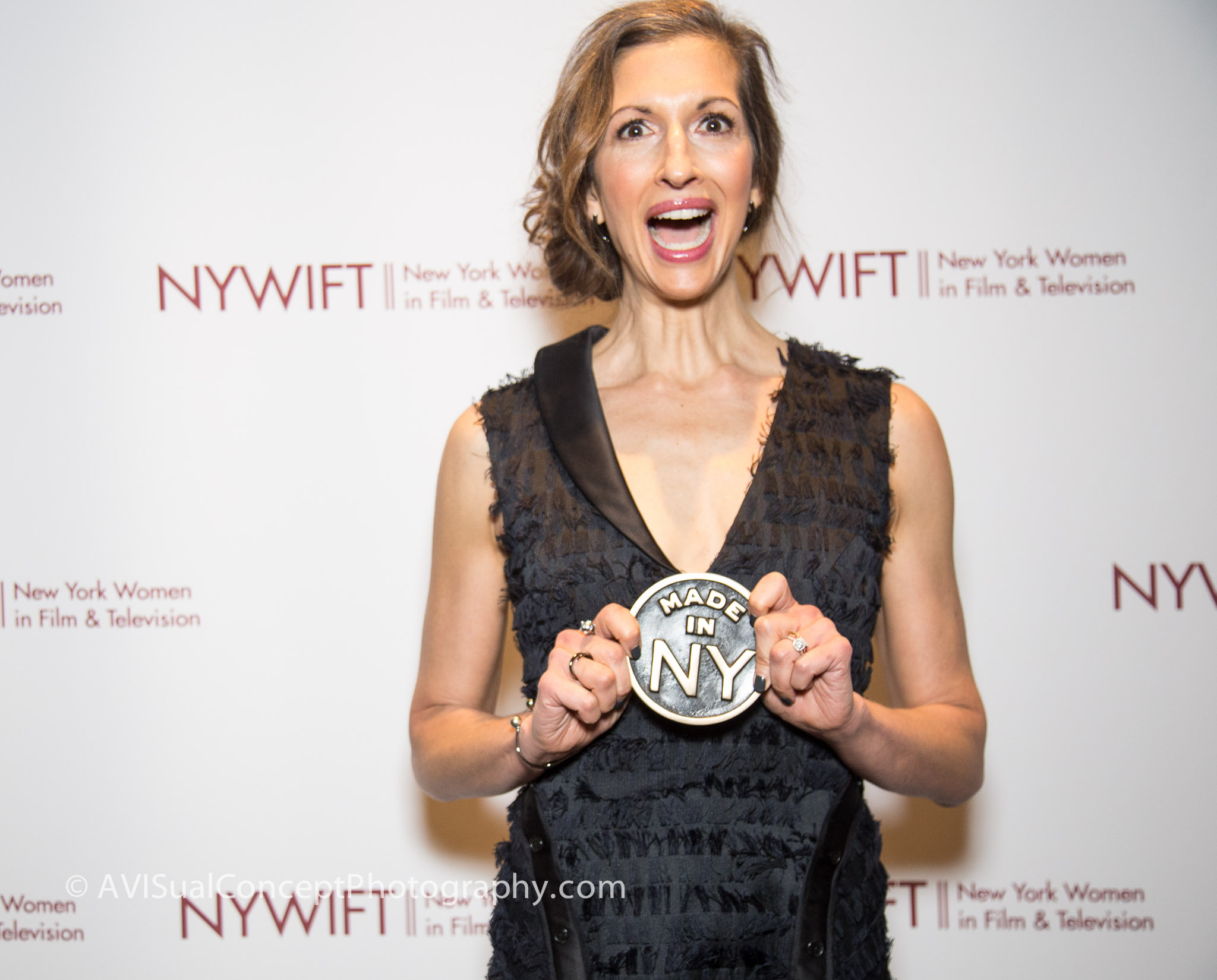 Alysia Reiner with Made in NY Award