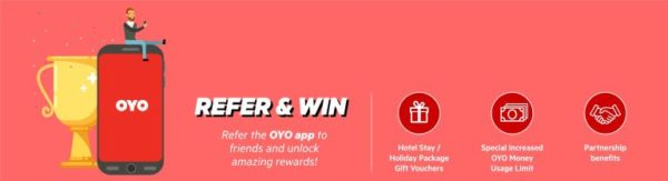 (Proof) Oyo – Refer 2 Friends & Get Rs.1000 oyo Cash on Signup + Rs.100 Paytm Cash