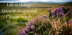 Life is change. Growth is optional. Choose wisely. -Karen Kaiser - Quotes by A. V. Laudon