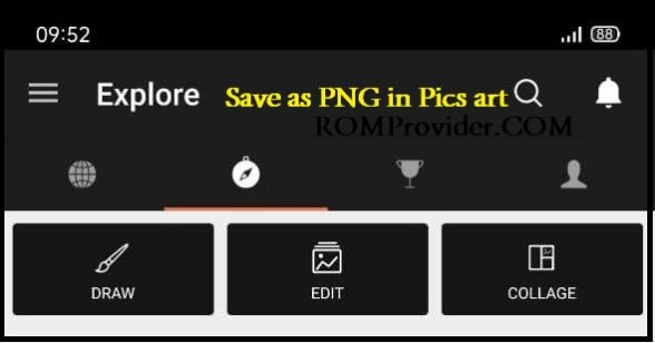 Как сохранить как PNG в Pics Art / PicsArt