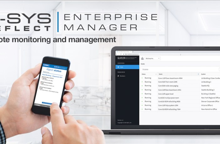 Q-SYS Reflect Enterprise Manager is a simple-to-use AV monitoring and management service for the Q-SYS Ecosystem
