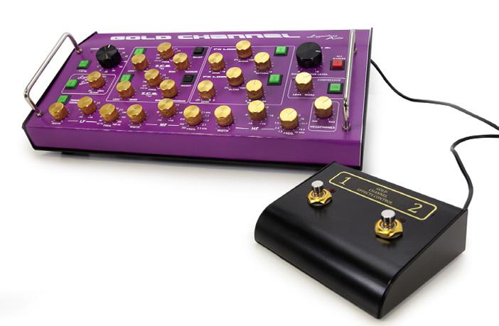 Legendary Audio's debuts Gold Channel pedal board