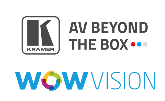 Kramer and WOWvision logos