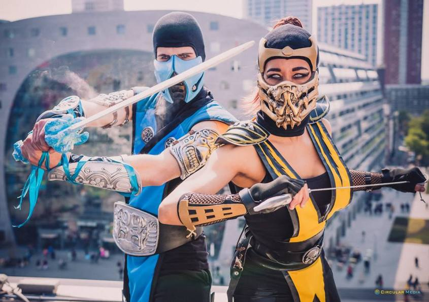 Sub-Zero & Lady Scorpion | Photo taken at Level Up Event 2015 by Circular Media