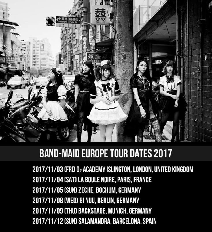 BAND-MAID Europe Tour 2017