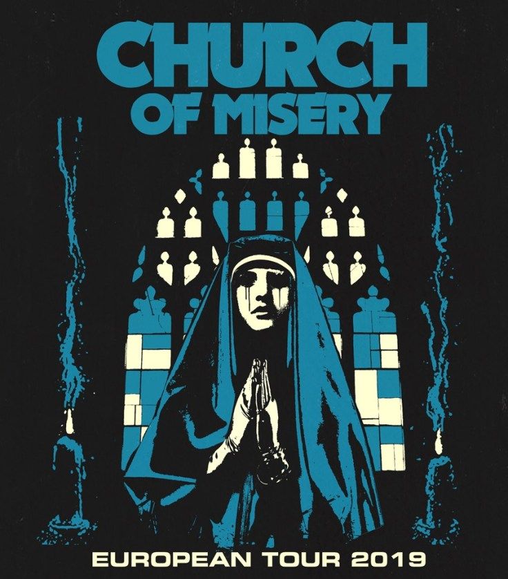 Church of Misery European Tour 2019 Poster by Max Be Te (Death Wheelers)