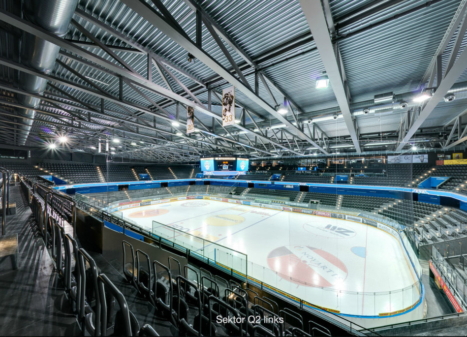 Bossard Arena in Zug mit 360-degree Video & Panorama Tour