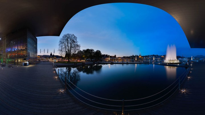 Panorama photo to the 360 degree tour in kkl luzern