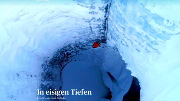 Expedition unter den Gletscher Plaine Morte.