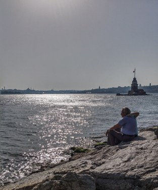 Let's grow old and travel the world together, Aditya! - Maiden's Tower, Uskudar