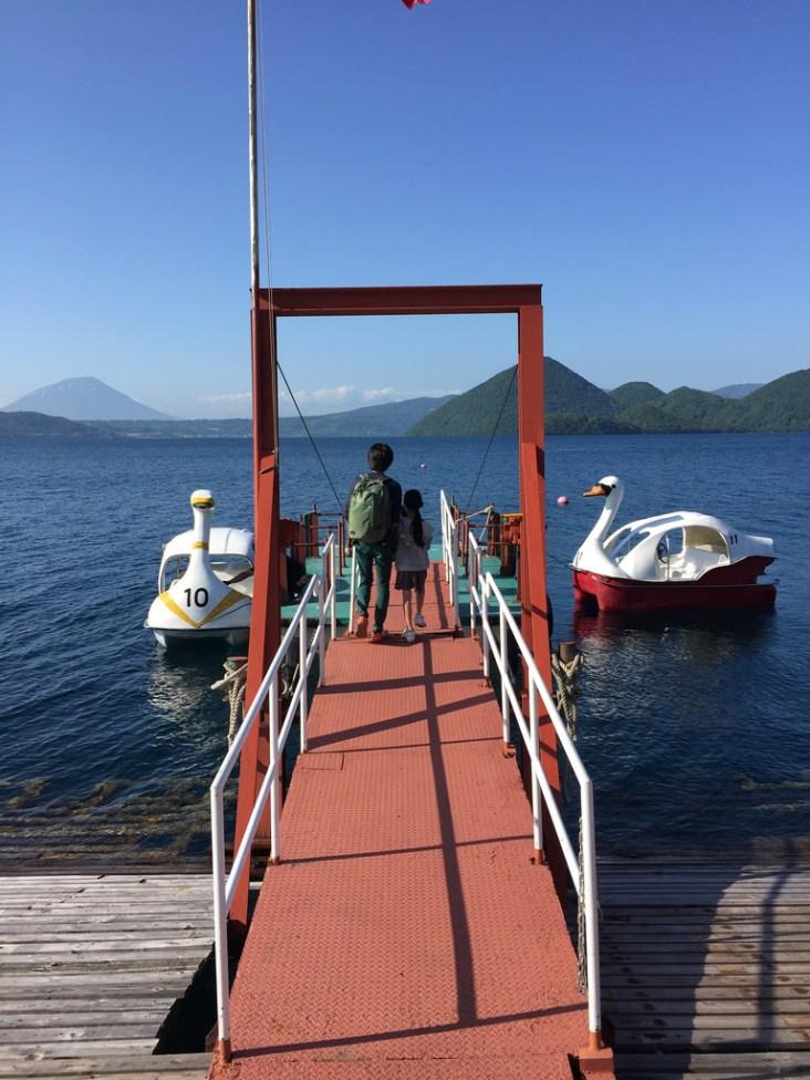 boarding the swan