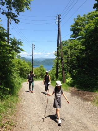 walking down the mountain