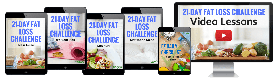 21-Day Fat Loss Challenge Program by Avocadu