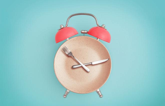 Intermittent Fasting Plate Clock