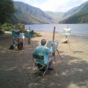 Outdoor Painting Workshop #6 – Glendalough, Upper Lake