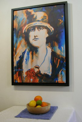 Jeannie Wyse-Power print with still life.