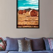 September Harvest canvas print interior display - close up.