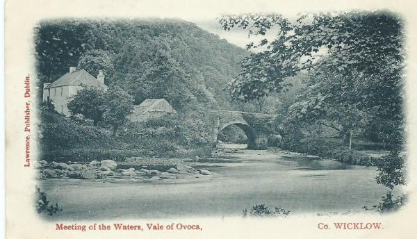 Vintage Postcard of Meeting of the Waters.