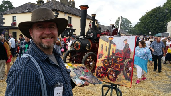 Rod's painting demo at Hollywood Fair 2015.