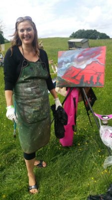 Wicklow artist Niki Purcell is an dynamic painter.