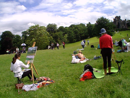 Wild Cards; a painting battlefield before Wray Castle.