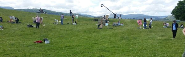 2016 Sky Arts siege machines move in on Wray Castle.