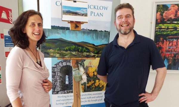 My Place on Canvas at Wicklow County Buildings - Rod Coyne with heritage officer Dierdre Byrne.