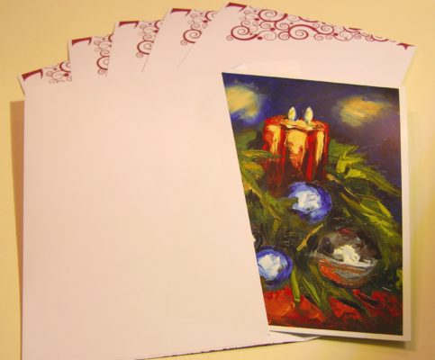 Rod Coyne's Christmas Art Card with enveloes..