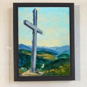 Miners Cross framed canvas print.