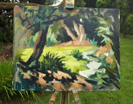 Rod Coyne's demo painting - this how he begins each workshop.