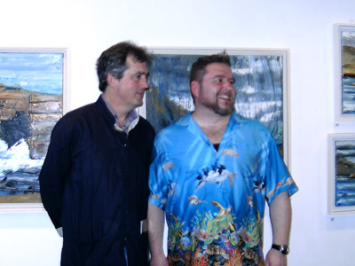 "Sebastian Barry launching Rod Coyne's ""Decade"" exhibition in the Origin Gallery, 2009."