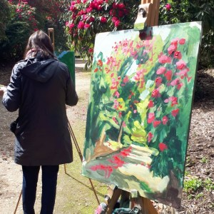 Still wet the painting demo by Rod Coyne at Kilmacurragh's Botanical Gardens.