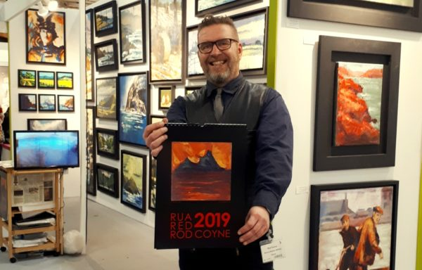 Rod Coyne presents his 2019 calendar at Art Source 2018.