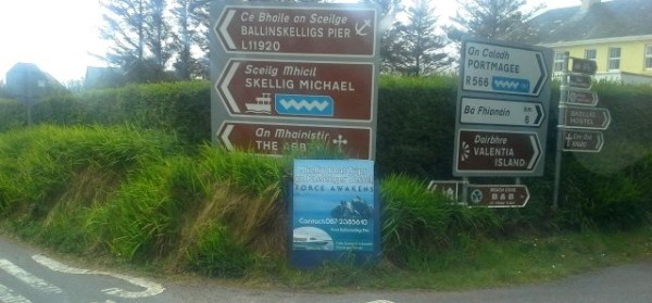 Photo of Kerry Road signage, the areadepicted in Rod Coyne's 2020 Calendar ON WILD ATLANTIC WAY