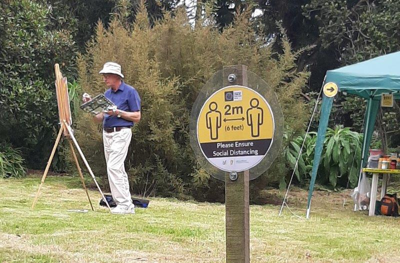 Photo of Covid 19 painting precautions signage for Avoca Painting School.
