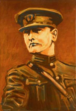 portrait of Michael Collins painted by rod coyne