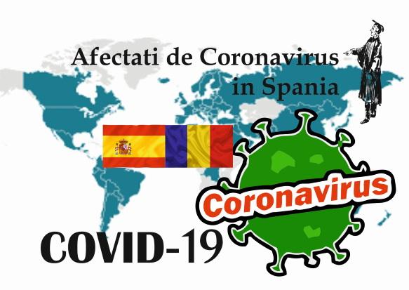 Afectati de Coronavirus in Spania