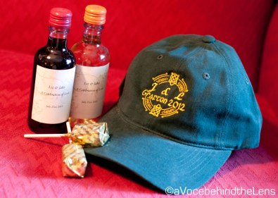 Lollipops, personalized hats, and wine bottles.What's not to like?