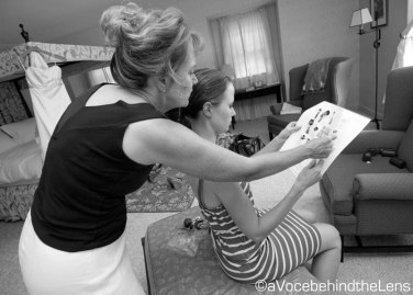 Everyone did their part to make the day memorable, from fixing the hair on the bride-to-be...