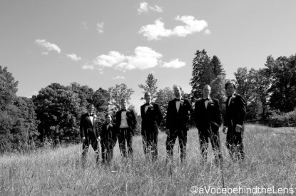 The groomsmen look ready to take on the world.